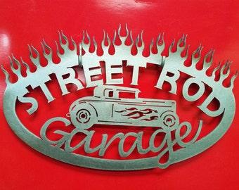 Street Rod Garage Metal Art