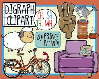 Digraph Sounds / Phonics / Reading Clip Art