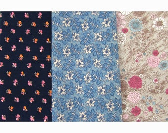 Vintage Fabric Lot - Cotton/Cotton Blends - 3.5+ yds total - Peter Pan, Never Misbehavin - 60s