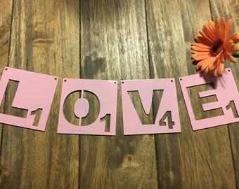 LOVE scrabble inspired