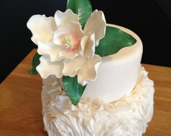 Edible Magnolia Cake Topper (Gumpaste, Wired) Assorted Colors available