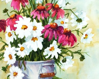 Daises and Cone Flowers