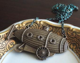 Zeppelin Blimp Necklace