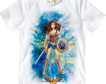 Wonder Woman figure from Justice League Girls T-Shirt by Takila