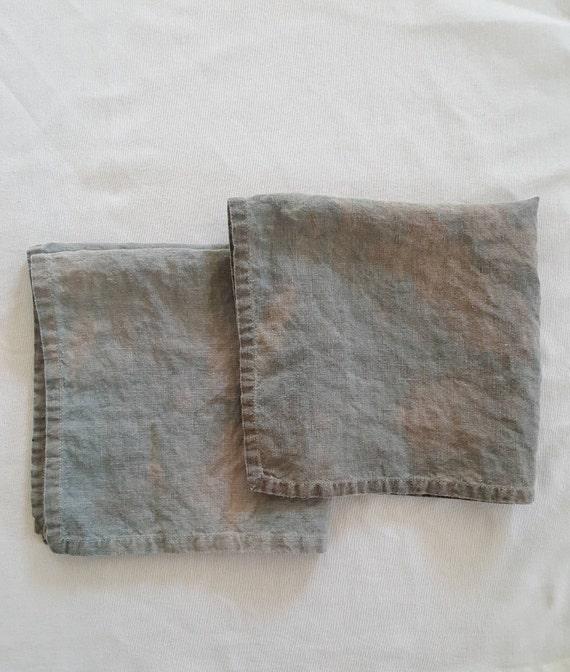 Botanically Dyed Linen Napkin Set / Natural Dyed Linen / Entertaining / Botanical Color Fabric /  Linen Napkin Set / Housewarming Gift