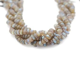 Labradorite Faceted Rondelle Bead 6-8 mm