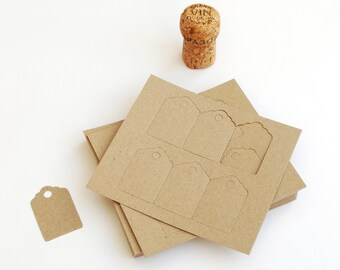 Small Recycled Tags, Rustic Kraft Manilla Swing, Price or Hang Tags, available as sets of 60, 120 or 180