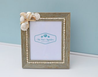 Coastal Decor, Beach Wedding Gift, Beach Picture Frame, Seashell Frames, Nautical Picture Frame, Beach Decor, Beach Wedding, Nautical Decor
