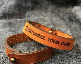 Personalised boyfriend gift for Wedding day, Mens leather bracelets, Wedding gift Gift ideas for men, Leather anniversary gift for men