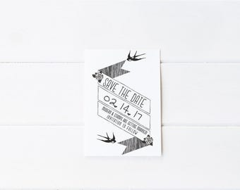 Custom Wedding Stamp   Save the Date Stamp   Custom Rubber Stamp   Custom Stamp   Personalized Stamp   Bird Save the Date   D10