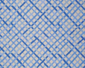 Kaffe Fassett Collective Mad Plaid Blue - 1/2yd