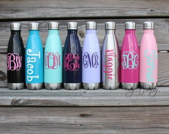 Personalized Water Bottle-Stainless Steel Water Bottle-Monogrammed Water Bottle-Custom Water Bottle-Kids Water Bottle-Monogrammed Bottle