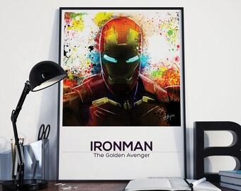 Avengers inspired print / Inifity War / Iron Man / Marvel Poster / Gift / Alternative Film Poster / Fan Art / 250gsm Print