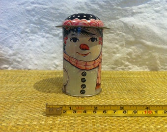 Vintage tin can snowman decorations object