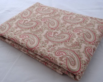 PARIS FLEA MARKET 3 yd Moda quilt fabric 3 Sisters ballet slipper pink paisley French shabby 3 full yards 3730-16