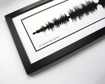My Heart Will Go On: Movie Soundtrack Sound Wave Art - Created From Entire Song