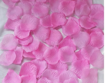 500pcs Pink petals wedding petals atificial silk rose flowers petals silk petals decoration petals silk petals silk rose petals