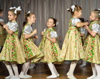 "Russian Dance costume ""Strawberry"", dance dress for girl, scenic girl costume, scenic dress"