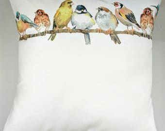Cushion Cover in Laura Ashley Garden Birds 16""
