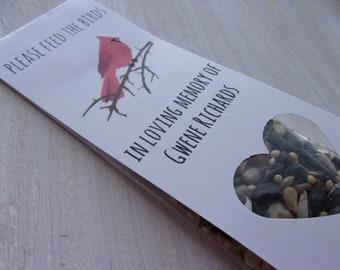Cardinal In Loving Memory Bird Seed Packet Cardinal Memorial Gift Cardinal Memento Cardinal Funeral Bird Seed Gift Cardinal Favor In Memory