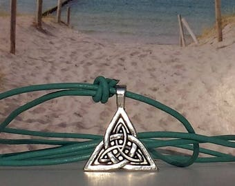 Leather Necklace-Pendant metal alloy-surfer chain-pearl-beach-yoga-outdoor-fitness-unisex-Silvana-beach-Jewelry-Beach Poems