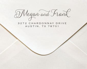 Wedding Stamp, Wedding Stamps, Personalized wedding Stamp, Custom Wedding Stamp, Wedding Address Stamp, Wedding Stamp self inking # 4