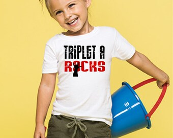 Triplet A Rocks kiddy kats toddler tee