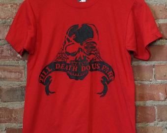 Vintage Harley Davidson Til Death Do Us Part Skull Graphic Tee 80s