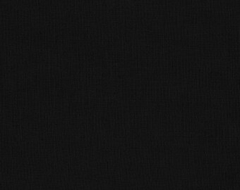 Black - Kona cotton solid fabric - half yard or more