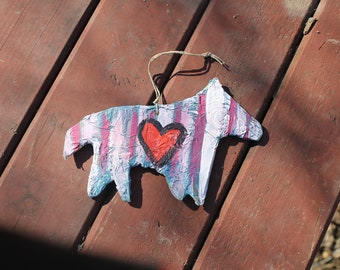 mixed media acrylic horse ornament wall hanging