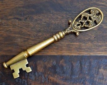 Unique Solid Brass Skeleton Key