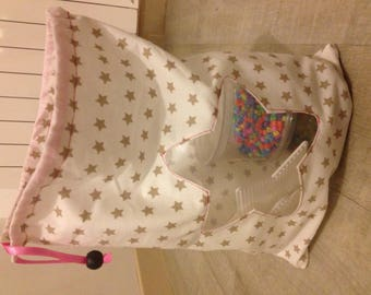 Organize bag with window better transparent star