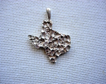 Texas State Sterling Silver Pendant/Charm