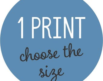 Choose Any 1 Child/Nursery or Decorative Art Print - Choose the size, design and color