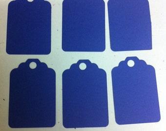 Set of 50 Blue Tags , Favor Tags, Treat Bag Tags, Product Tags, Hang Tags, Wish Tree Tags, birthday tags ,