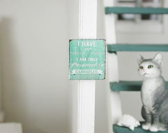 Decorative sign I have made of wood in miniature 1zu12 for the doll house in shabby style, Dollhouse miniatures, # 15