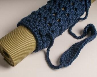 Yoga Mat Tube Bag, San Diego Navy, Hometown Soft Acrylic, Men's Gift Original HH Design