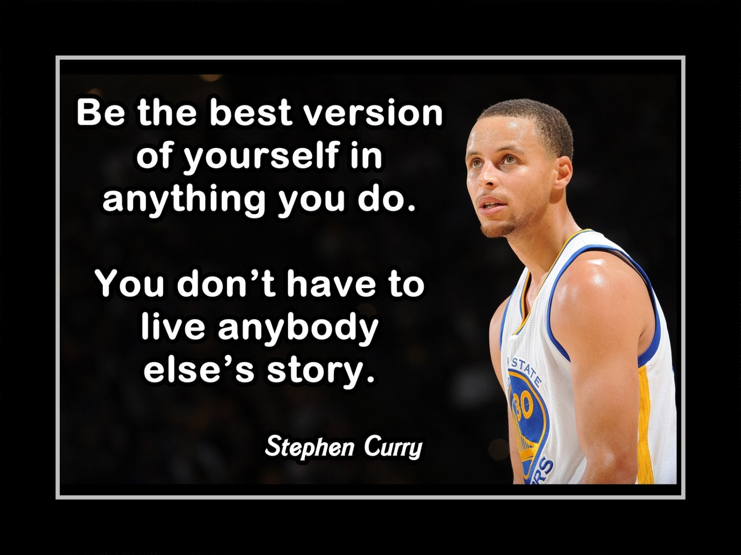 Great Basketball Quotes Stephen Curry Basketball Motivation Poster Coaching Wall Art