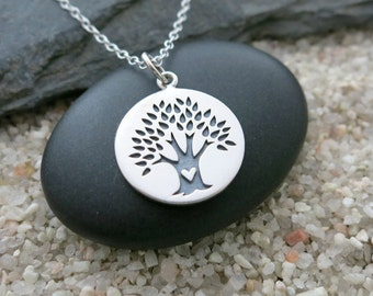 Tree of Life Necklace, Sterling Silver Tree Pendant, Tree of Life Jewelry