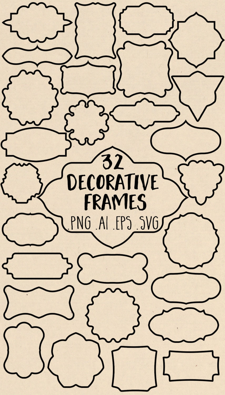 Vector Frame Clipart: Frames Clip Art, Chalk Frame Clipart ...