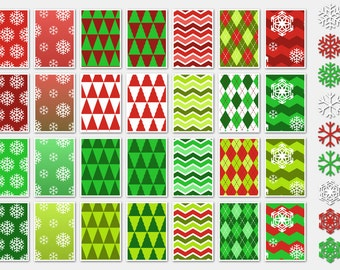 014 CHRISTMAS SNOWFLAKES digital paper pack for scrapbooking, albums, cards and crafts