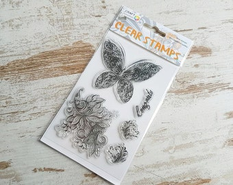 "Clear stamps ""butterfly"""
