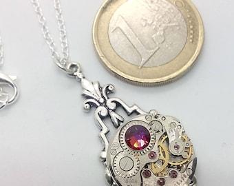 art deco steampunk volcano necklace - steampunk jewellery - steampunk necklace- steamretro - Christmas gift - steampunk - necklace - pendant