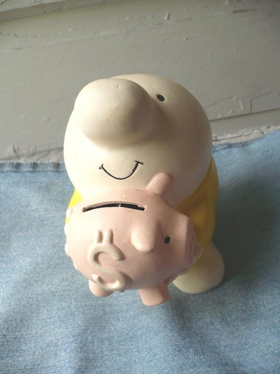 vintage ziggy piggy bank earthenware 1981 tom wilson comics