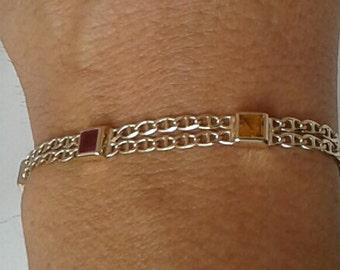 Stone Bracelet 14K Solid Gold
