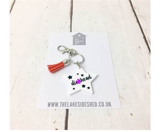 Dic*head Keyring | Sweary Gift | Mature | Adult Humour |  Offensive | Keychain | Swearing | Abusive | Boyfriend Gift | Friend Gift