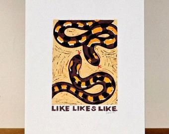 Proverb 7: Like likes like