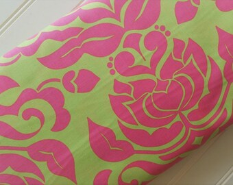 Riley-Blake-Fabric-By-The-Yard-Pink-Lime-Damask-Cotton-Quilting-Fat-Quarters-Sewing-DIY-Projects-Crafts-Supplies