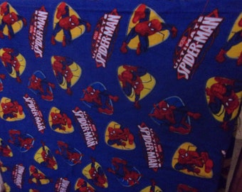 Spiderman Baby Blanket or Play Mat  Also Great for a Lap Throw or Wheel Chair Blanket