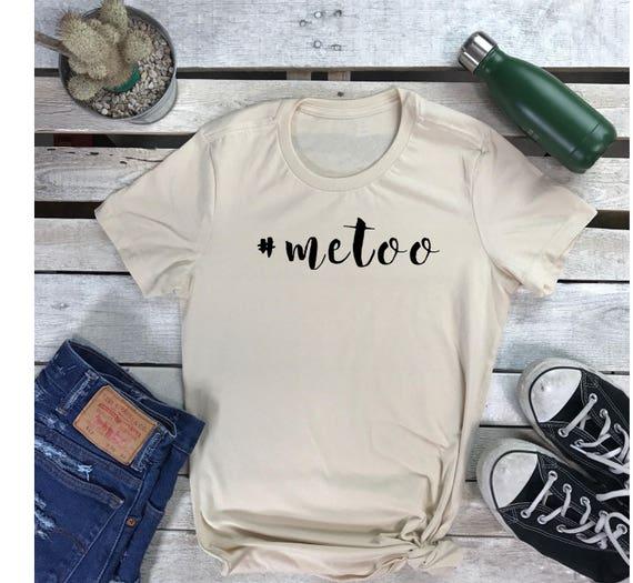 METOO Sexual Awareness Women's Short Sleeve Crewneck T Shirt Feminism Tee , #metoo Sexual Assault Awareness Shirt, Girl Power Shirt